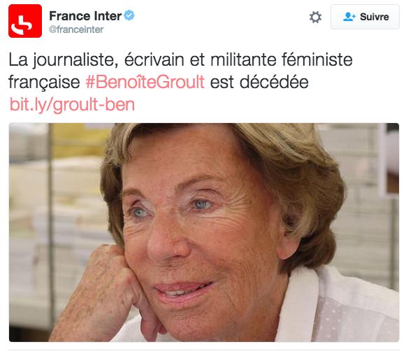 France inter - Benoîte Groult