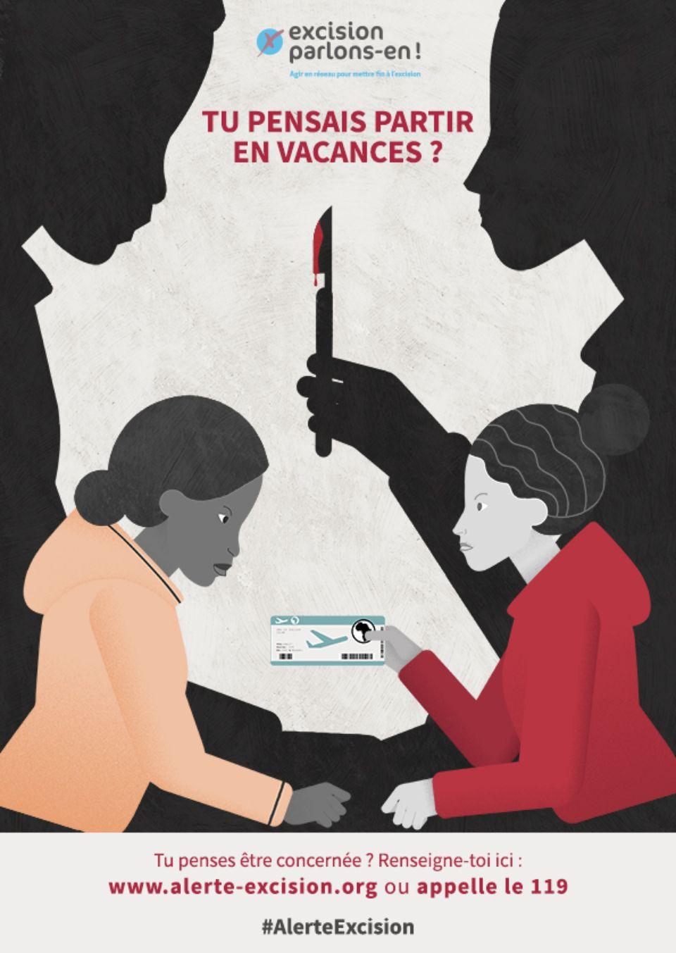 Image result for La campagne de l'association Excision parlons-en dans les rues de Paris, cette année.Association Excision parlons-en